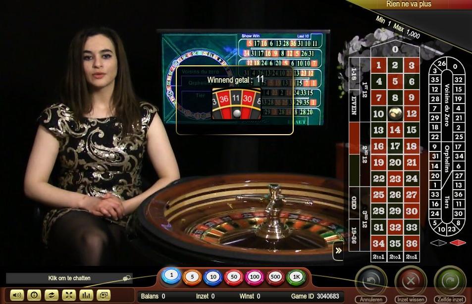 Live roulette nieuw in het Golden Palace Casino