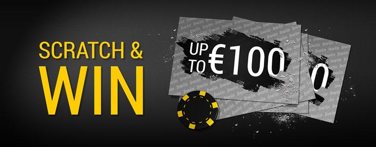 Elke dag een gratis kraslot in Casino Bwin.be