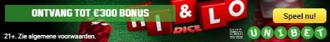 dice toernooi bij Unibet casino